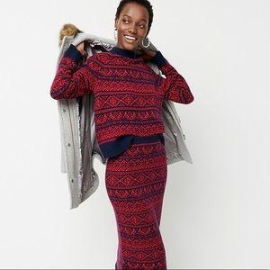 NWT J.Crew   Cheerful Fair Isle Wool Sweater